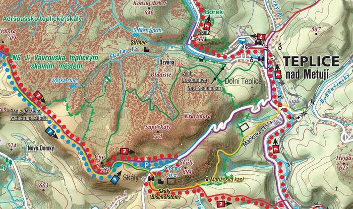 Skalne Miasto, mapa