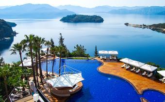 Widok z Marmaris na Morze Egejskie